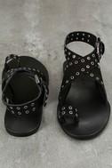 Matisse Starling Black Leather Ankle Strap Flat Sandals 3