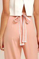 Welcoming Committee Blush Pink Wide-Leg Pants 5
