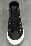 Superga 2795 FGLU Black Leather High-Top Sneakers 5
