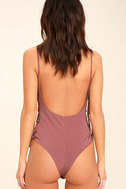 Exception to the Rule Mauve Lace-Up Bodysuit 5