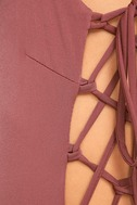 Exception to the Rule Mauve Lace-Up Bodysuit 7