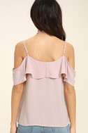 Sing It Now Blush Pink Off-the-Shoulder Top 4