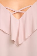 Sing It Now Blush Pink Off-the-Shoulder Top 6