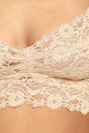 I Like You Peach Lace Bralette 5