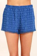 BB Dakota Watkin Blue Embroidered Shorts 5