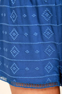 BB Dakota Watkin Blue Embroidered Shorts 6