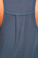 Cool Denim Blue Tank Top Racer Tank Top Burnout Tank