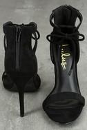 Kate Black Suede Ankle Strap Heels 3