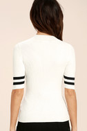 College Try Black and White Striped Top 4