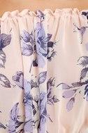 Sunny Honey Light Pink Floral Print Off-the-Shoulder Top 6