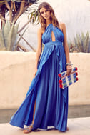 On My Own Blue Maxi Dress 1