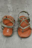 Mia Dannie Spring Khaki Flat Sandals 3