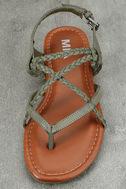 Mia Dannie Spring Khaki Flat Sandals 5