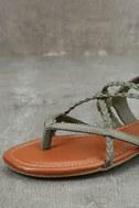 Mia Dannie Spring Khaki Flat Sandals 6