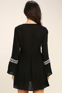 Daydreaming of You Black and White Embroidered Dress 4