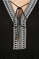 Daydreaming of You Black and White Embroidered Dress 6