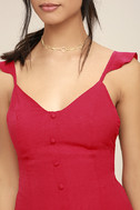 Dance it Out Berry Red Backless Romper 5