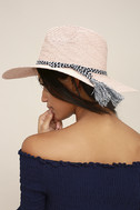 New Me Blush Floppy Straw Hat 2