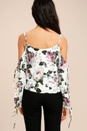 Flourishing Flowers Ivory Floral Print Off-the-Shoulder Top 4