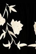 I Heart You Black Embroidered Midi Dress 7