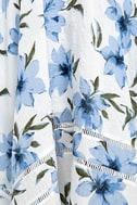 Zahara Blue and White Floral Print Midi Dress 6