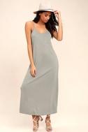 PPLA Frida Light Grey Midi Dress 2