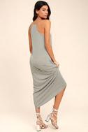 PPLA Frida Light Grey Midi Dress 3