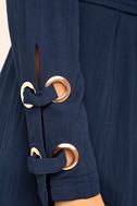 Invigorating Navy Blue Trench Coat 6