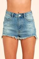 Brighten Your Day Light Wash Cutoff Denim Shorts 5