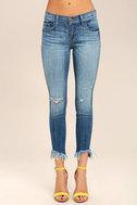 Audrey Medium Wash Distressed Ankle Skinny Jeans 3