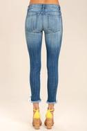 Audrey Medium Wash Distressed Ankle Skinny Jeans 5