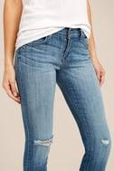 Audrey Medium Wash Distressed Ankle Skinny Jeans 6