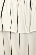 Sunbather White Striped Off-the-Shoulder Top 5