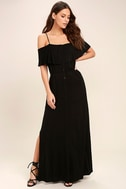Life's Wonders Black Off-the-Shoulder Maxi Dress 1