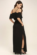 Life's Wonders Black Off-the-Shoulder Maxi Dress 3