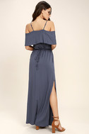 Life's Wonders Denim Blue Off-the-Shoulder Maxi Dress 3