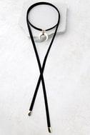 Positive Prediction Black Wrap Necklace 2