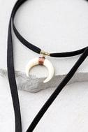 Positive Prediction Black Wrap Necklace 3