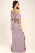Life's Wonders Mauve Off-the-Shoulder Maxi Dress 3