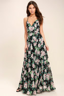 Legendary Romance Black Floral Print Wrap Maxi Dress 2