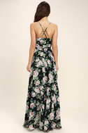Legendary Romance Black Floral Print Wrap Maxi Dress 4