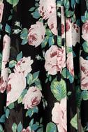 Legendary Romance Black Floral Print Wrap Maxi Dress 6