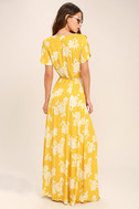 Heart of Marigold Yellow Floral Print Wrap Maxi Dress 3