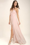 My Love Has Come Along Blush Pink Beaded Maxi Dress 2