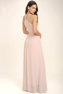 My Love Has Come Along Blush Pink Beaded Maxi Dress 3
