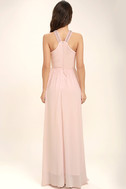 My Love Has Come Along Blush Pink Beaded Maxi Dress 4