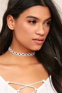 Vanessa Mooney Katherine Black and White Choker Necklace 1
