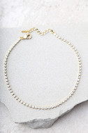 Granted Wishes Gold Rhinestone Choker Necklace 2