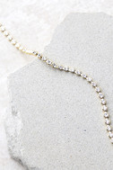 Granted Wishes Gold Rhinestone Choker Necklace 3