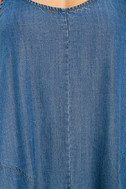 Sing to Me Blue Chambray Swing Dress 6
